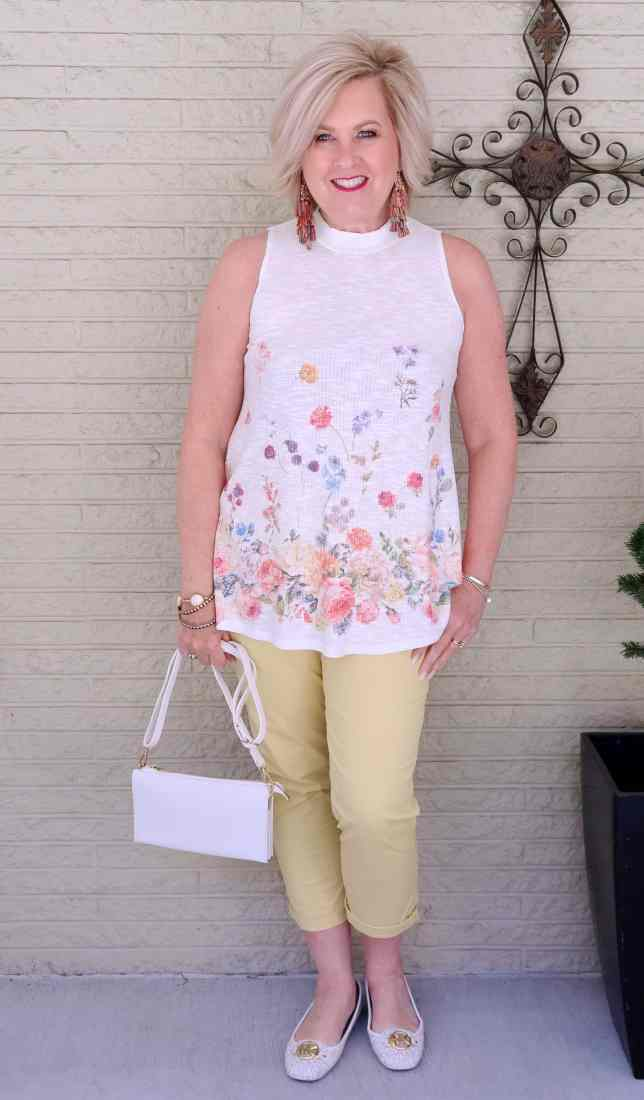 50 IS NOT OLD   GIRLFRIEND PANTS AND A FLORAL TOP   FASHION OVER 40