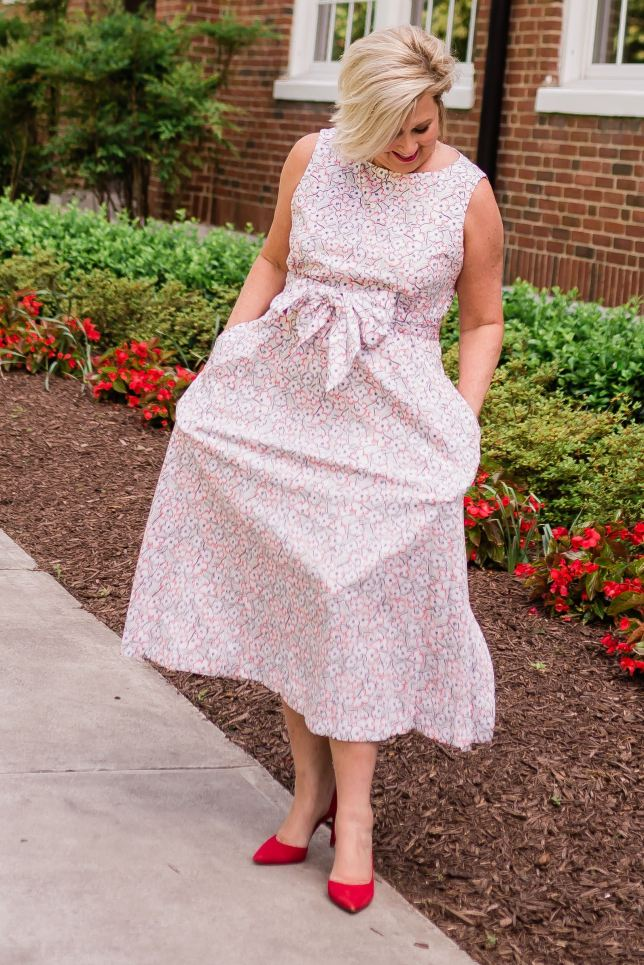 50 IS NOT OLD | THE PERFECT DRESS FOR GRADUATION, BABY SHOWERS, AND WEDDINGS | FASHION OVER 40