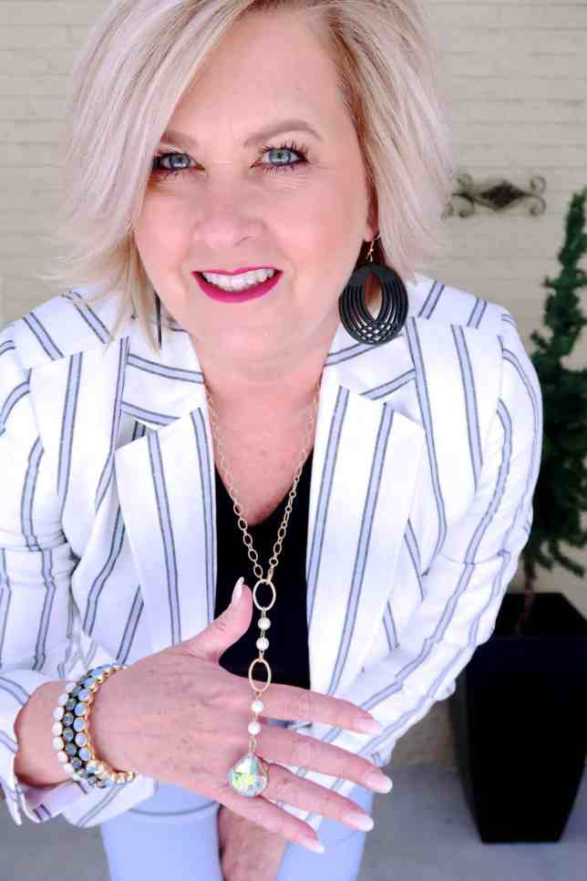 50 IS NOT OLD | STYLING A LINEN BLAZER FOR SPRING | FASHION OVER 40