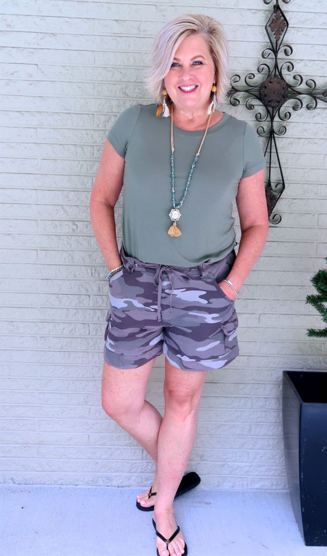50 IS NOT OLD | STYLING CAMO AND OLIVE GREEN | FASHION OVER 40