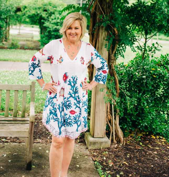 50 IS NOT OLD | UNDER THE SEA PRINT DRESS | FASHION OVER 40