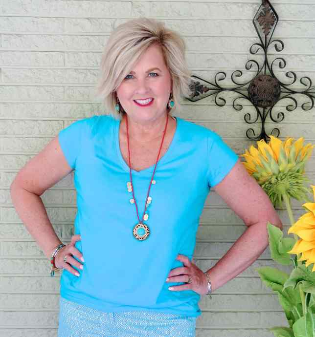 50 IS NOT OLD | STYLING A MONOCHROMATIC LOOK IN TURQUOISE BLUE | FASHION OVER 40