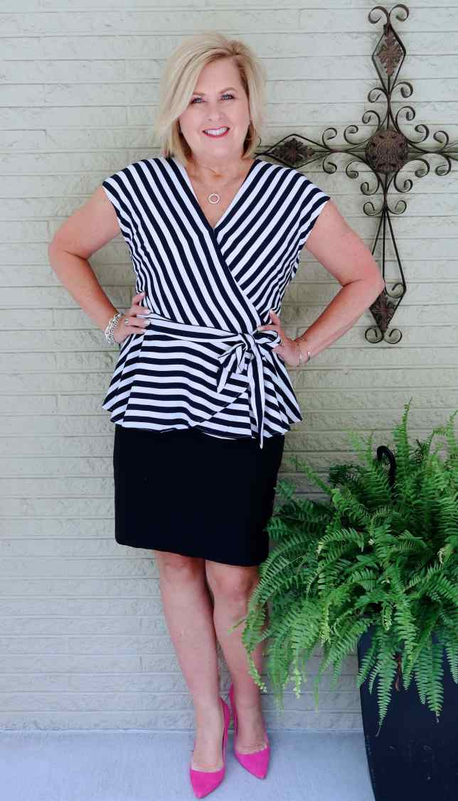 50 IS NOT OLD   STRIPES THAT ARE FLATTERING   FASHION OVER 40