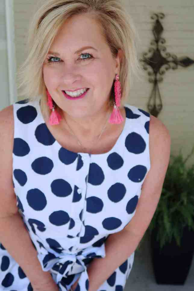 50 IS NOT OLD | POLKA DOTTED SHIRTDRESS WITH POCKETS | FASHION OVER 40