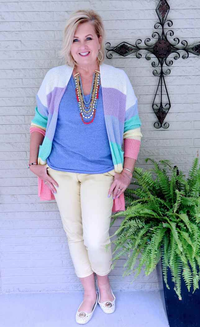 50 IS NOT OLD | LIGHTWEIGHT CARDIGANS FOR COOLER MORNINGS | FASHION OVER 40