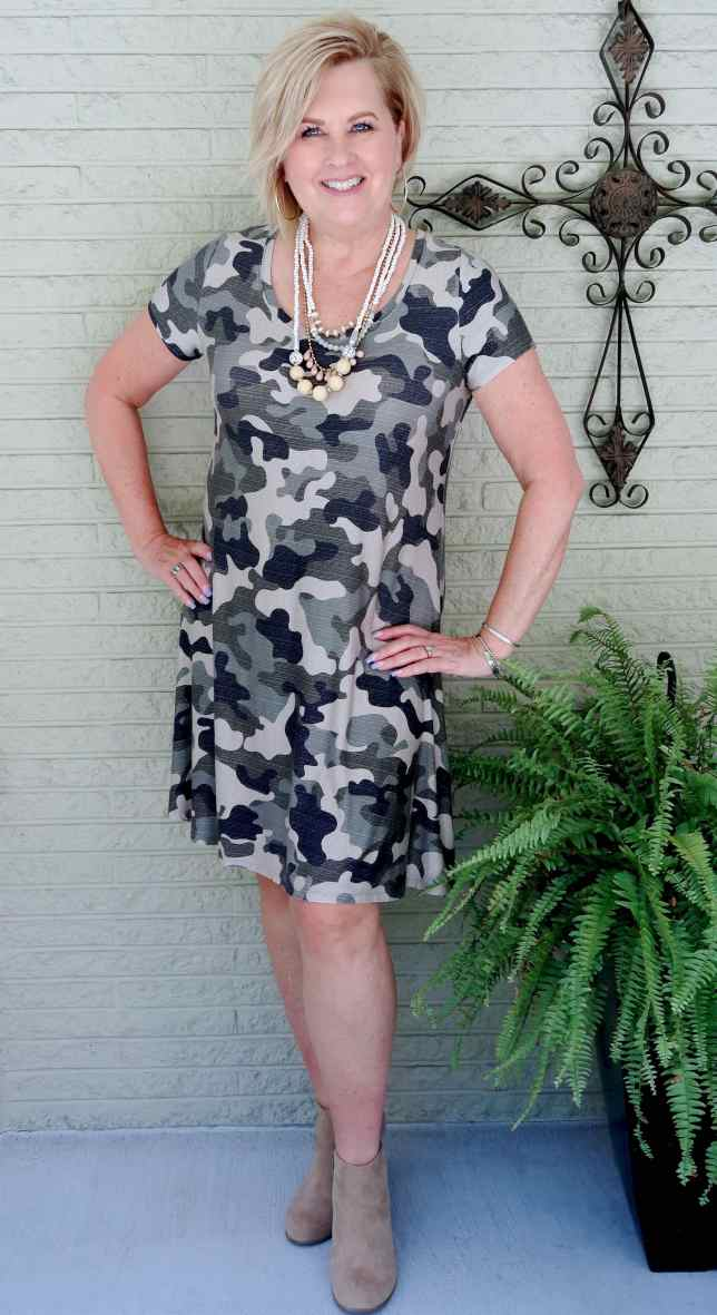 50 IS NOT OLD   THE RIGHT WAY TO WEAR CAMOUFLAGE FOR FALL   FASHION OVER 40