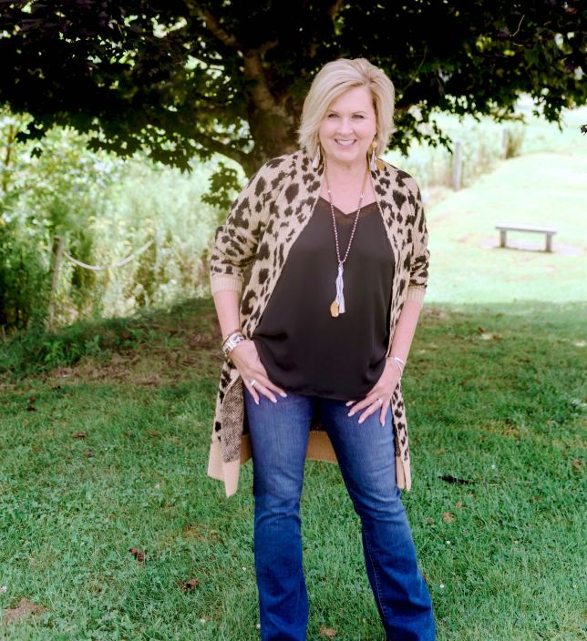 50 IS NOT OLD | LONG CARDIGAN AND BOOTCUT JEANS | FASHION OVER 40