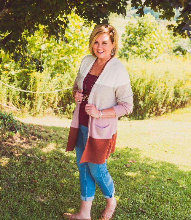 50 IS NOT OLD   HOW TO WEAR THE COLOR BLOCK TREND   FASHION OVER 40