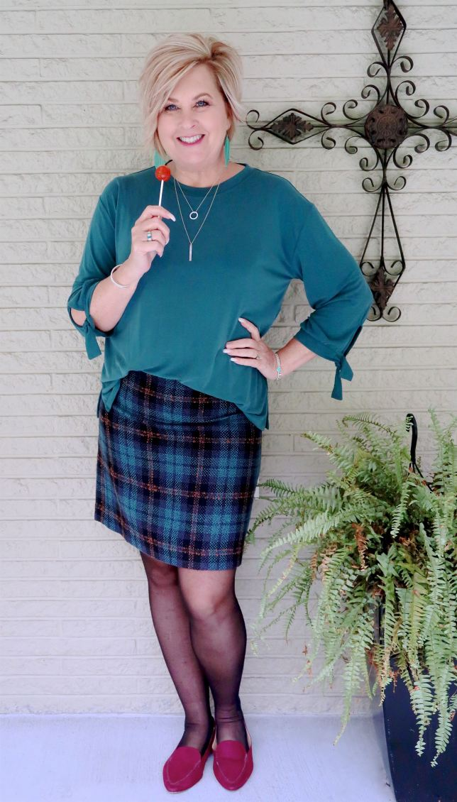 50 IS NOT OLD | HOW TO WEAR A PLAID SKIRT OVER 40 | FASHION OVER 40