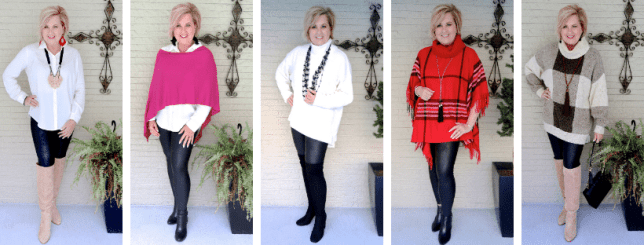 different ways to style faux leather leggings