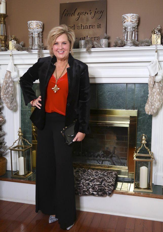 stylish and elegant black and red velvet holidays