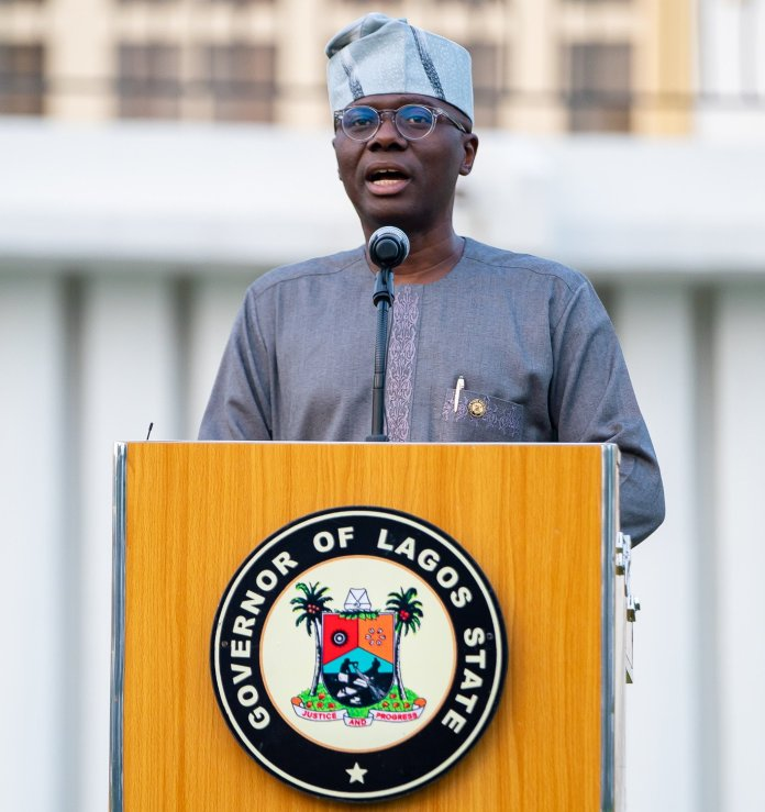 Governor Sanwolu addressing an audience  - IMG 20200331 003337 - Lagos Government Announces New Date for School Resumption