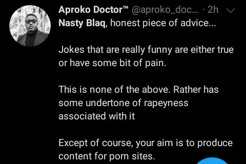 only a rapist would laugh at the video - nigerians attack popular comedian's skit for promoting sexual harassment - screenshot 20200420 14563131400972966993847535 - Only A Rapist Would Laugh At The Video – Nigerians Attack Popular Comedian's Skit For Promoting Sexual Harassment