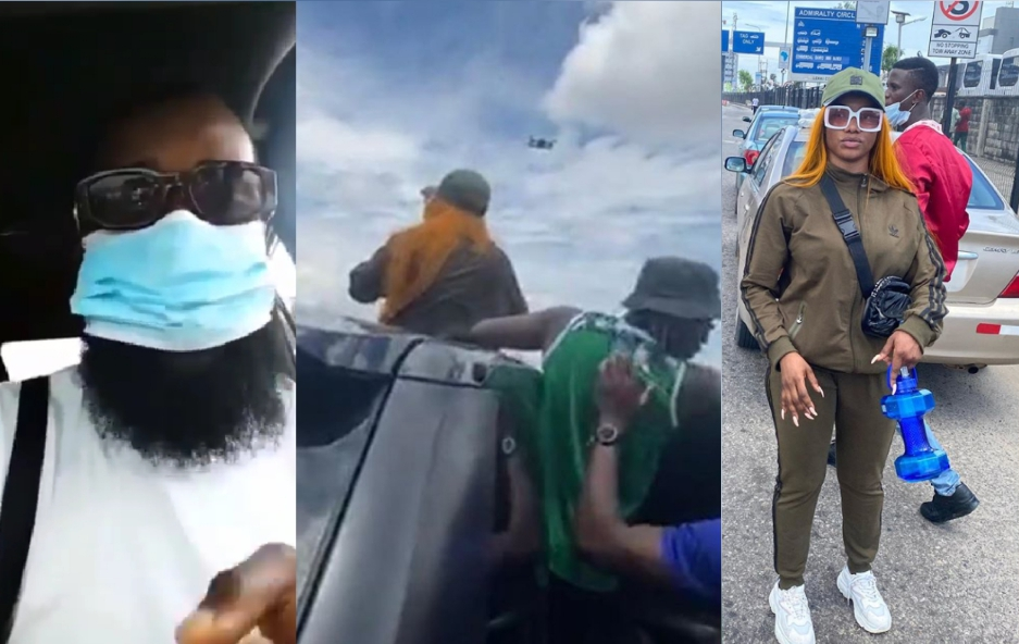"""""""dirty smelling girl, god punish your family""""- man blasts tacha for coming towards the end of protest and demanding for microphone """"Dirty smelling girl, God punish your family""""- Man blasts Tacha for coming towards the end of protest and demanding for microphone 20201009 101712 1602235104003"""