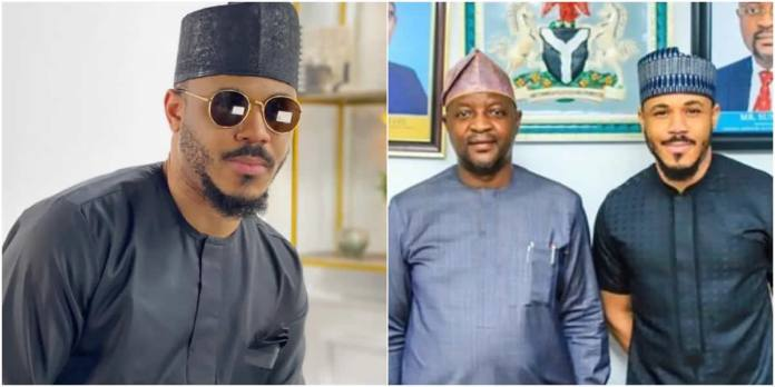 BBNaija bbnaija - BBNaija - BBNaija Reality star, Ozo meets with Sunday Dare, the Sports Minister