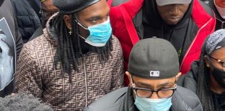 Burnaboy at London protest ground