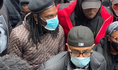 Burnaboy at London protest ground police brutality - IMG 20201021 174238 - Police Brutality: Burnaboy, other Nigerians in UK protest to Nigeria High Commission