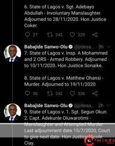 good news for #endsars protesters as sanwo-olu releases identity of police under prosecution - Screenshot 20201023 104214 1 235x300 - Good news for #EndSARS protesters as Sanwo-Olu releases identity of police under prosecution good news for #endsars protesters as sanwo-olu releases identity of police under prosecution - Screenshot 20201023 104214 1 - Good news for #EndSARS protesters as Sanwo-Olu releases identity of police under prosecution