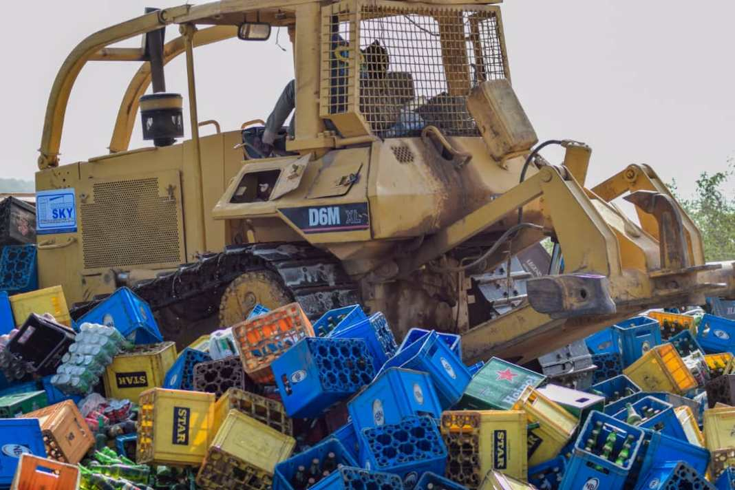 - 20201108 210334 - Photo News: Hisbah Police Destroys Beers Worth 200million in Kano State