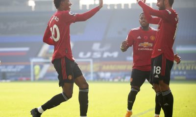Manchester United players against Everton epl - IMG 20201107 154157 scaled - EPL: Cavani off the mark as Manchester United returned to winning way at Goodison Park