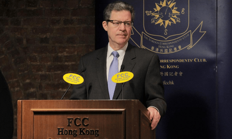 In this file photo, US ambassador for International Religious Freedom Samuel Brownback attends the Hong Kong Foreign Correspondents' Club in Hong Kong on March 8, 2019. — Reuters pakistan - 5fd1a0a197e76 - Pakistan gets US official waiver to keep away from sanctions