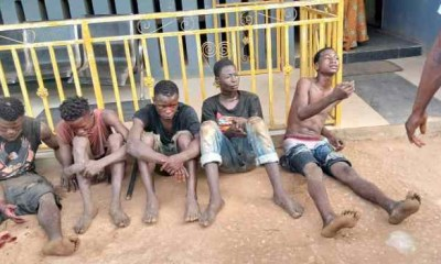 suspected cultists - 5fd889c304972 - Suspected cultists caught with a dead body while on deadly mission in Ogun State