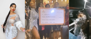 BBNaija Star Tacha gets N6 million, delivery bus and 3 dispatch bikes as birthday gifts from fans (Video) bbnaija star tacha gets n6 million, delivery bus and 3 dispatch bikes as birthday gifts from fans (video) - Screenshot 20201224 070918 300x129 - BBNaija Star Tacha gets N6 million, delivery bus and 3 dispatch bikes as birthday gifts from fans (Video) bbnaija star tacha gets n6 million, delivery bus and 3 dispatch bikes as birthday gifts from fans (video) - Screenshot 20201224 070918 - BBNaija Star Tacha gets N6 million, delivery bus and 3 dispatch bikes as birthday gifts from fans (Video)