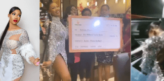BBNaija Star Tacha gets N6 million, delivery bus and 3 dispatch bikes as birthday gifts from fans (Video)