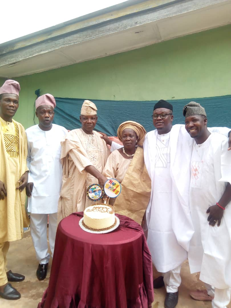 The celebrant and his nuclear family olayinka family celebrates father's 73rd birthday - IMG 20210106 WA0032 - Lifestyle: Olayinka Family Celebrates Father's 73rd Birthday