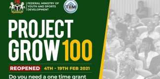 Are You A Young Nigeria Business Owner? Apply For FG ProjectGrow100 to Get $5000 Grant