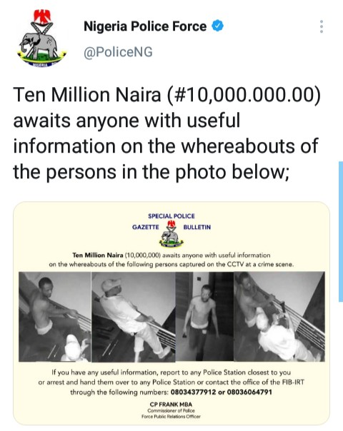 See Hilarious Reaction As Nigeria Police Offers Ten Million Naira for a Crime Suspect nigeria police - IMG 20210204 175813 134 - See Hilarious Reaction As Nigeria Police Offers Ten Million Naira for a Crime Suspect