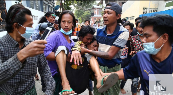 - Screenshot 20210220 141143 1 - Myanmar Protests: Two People  shot Dead By  Police