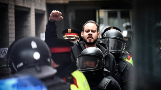 police station attacked in spain after rapper arrest - pablo hasel 2 300x169 - Police station attacked in Spain after rapper arrest
