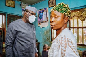 Kayode Fayemi with family of one of the late farmers at Isaba Ekiti bororo herdsmen - 20210307 143807 300x200 - Insecurity: Bororo herdsmen responsible for the killing of farmers in Ekiti State -Fayemi