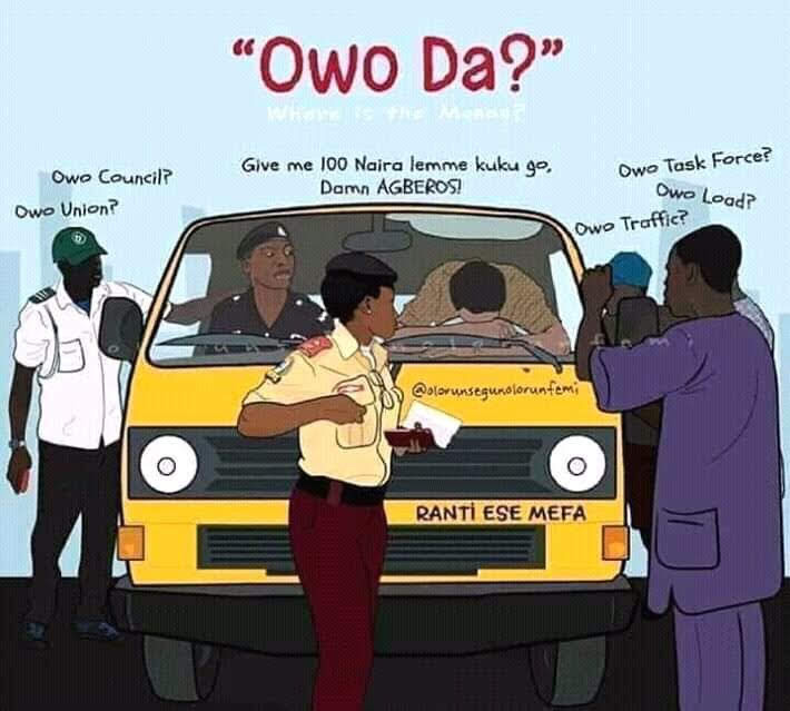 - 20210415 144757 - Cartoon Showing How Touts, LASTMA, Police Exploit Lagos Bus Drivers Sparks Reactions Online