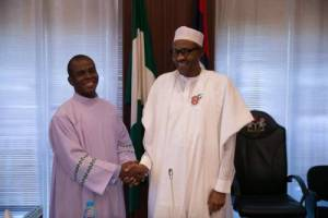 Father Mbaka and Buhari father ejike mbaka, - 20210430 200625 300x200 - Impeachment Call: Fr Mbaka, Three Others came to Aso Rock to seek for backdoor contracts -Buhari Aide