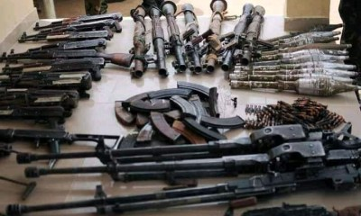 See Large Cache of Weapons Hidden Inside a Tipper Loaded with Sand in Kaduna cache of weapons - 1626282556192 - See Large Cache of Weapons Hidden Inside a Tipper Loaded with Sand in Kaduna