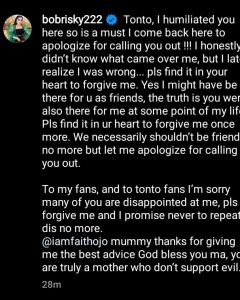 - Screenshot 20210928 003612 240x300 - Bobrisky Has Finally Apologized To Tonto For Humiliating Her