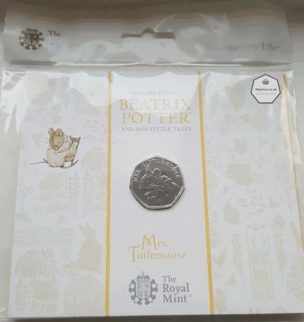 Mrs Tittlemouse 50p BU Coin Pack