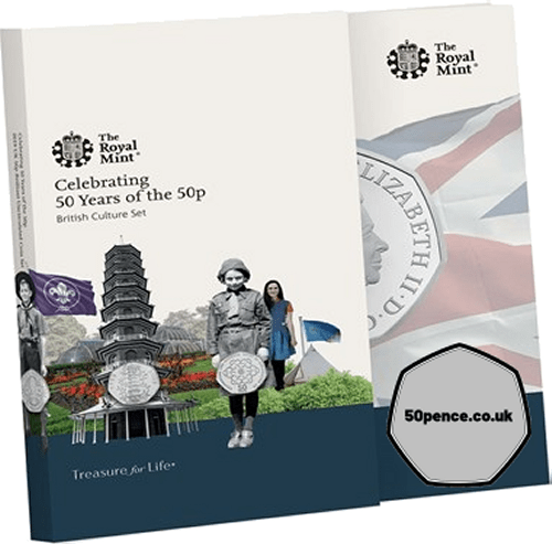 2019 Kew Gardens 50p BU Coin Pack