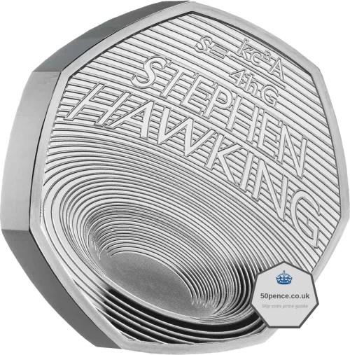 stephen hawking 50p silver proof piefort