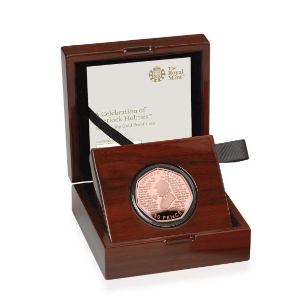 Sherlock Holmes 50p Gold Proof Coin