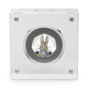 2016 Peter Rabbit 50p Silver Proof Case