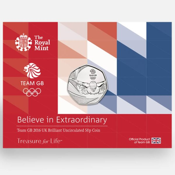 2016 Team GB 50p Brilliant Uncirculated