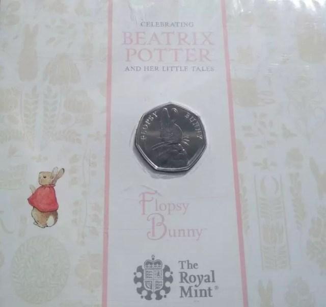 2018 Flopsy Bunny 50p