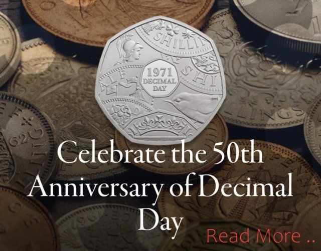 50TH Anniversary Decimal Day 50p