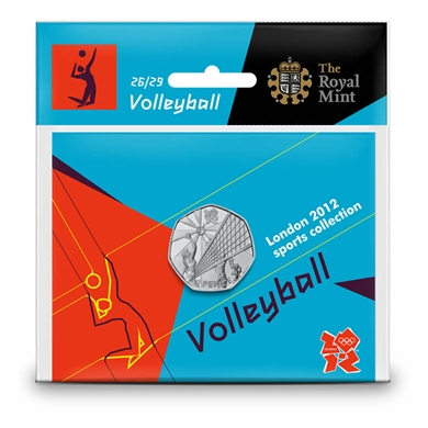 Volleyball 50p coin