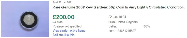 Genuine 2009 Kew Gardens 50p