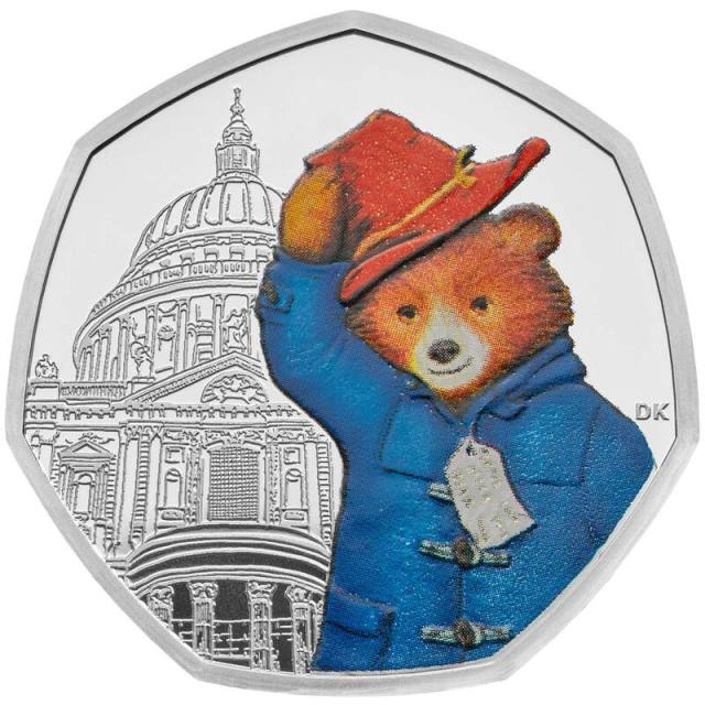 Paddington Bear 50p Silver Proof Coin