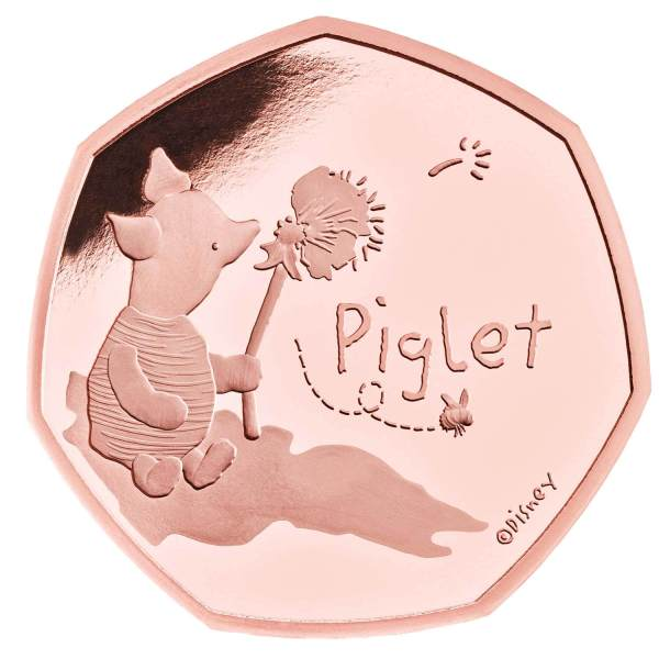 Piglet 50p Gold